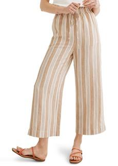 Madewell Huston Stripe Tan Smocked Pants