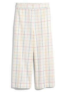 Madewell Huston Windowpane Pull-On Crop Pants