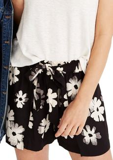 Madewell Ikat Floral Drapey Pull-On Shorts