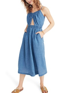 Madewell Indigo Cutout Camisole Dress
