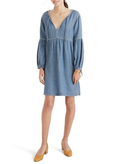 Madewell Indigo Peasant Dress