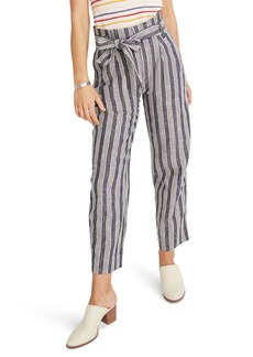 Madewell Indigo Stripe Paperbag Waist Pants