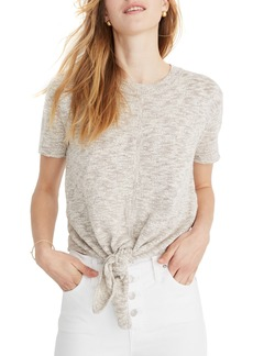 Madewell Knot Front Sweater Tee
