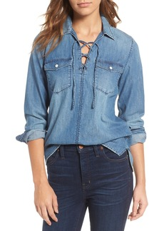 Madewell Lace-Up Denim Shirt