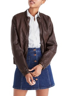 Madewell Leather Bomber Jacket