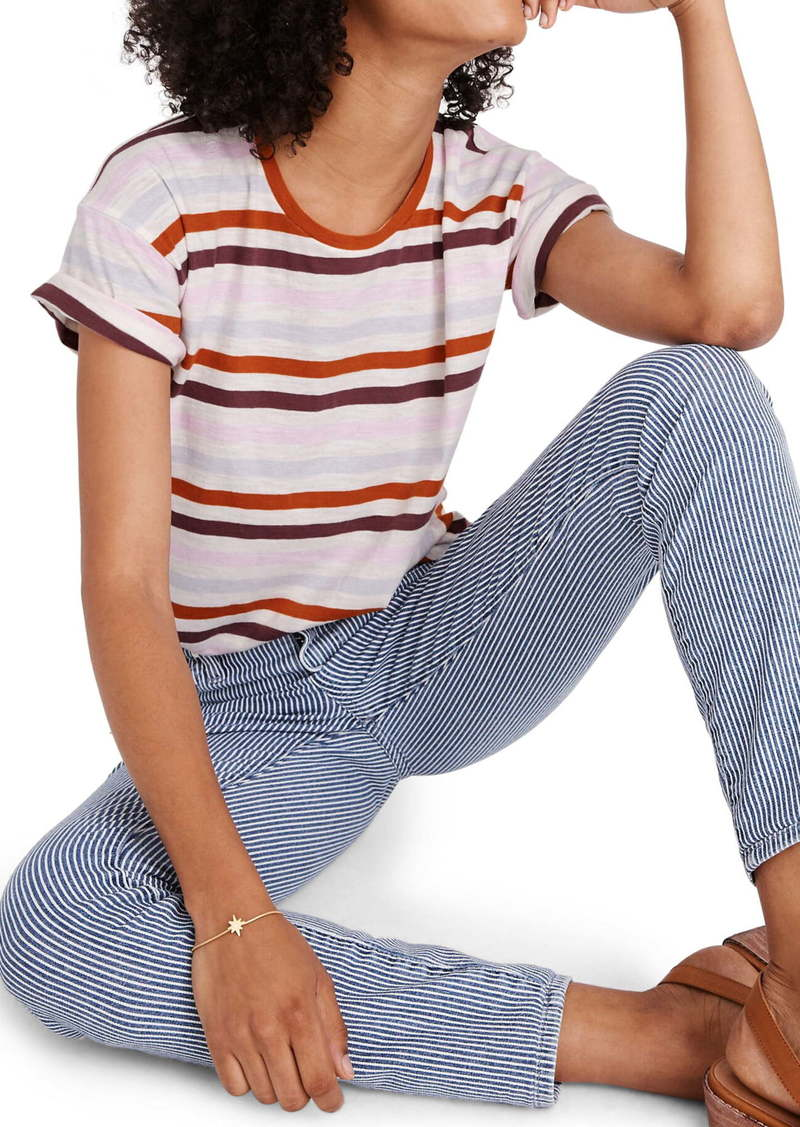 Madewell Lennie Stripe Whisper Cotton Crewneck Tee