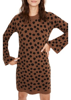 Madewell Leopard Dot Sweater Dress