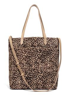 Madewell Leopard Genuine Calf Hair Medium Transport Tote