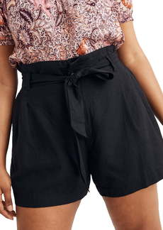 Madewell Linen Blend Paperbag Shorts