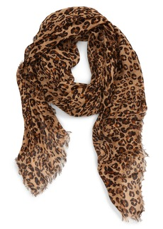 Madewell Literal Leopard Print Scarf
