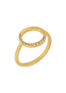 Madewell Luster Circle Pavé Ring