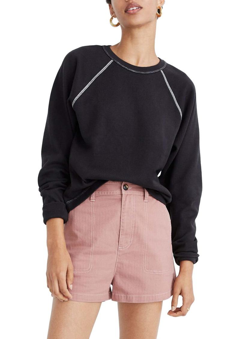 Madewell Luxe Raglan Sweatshirt