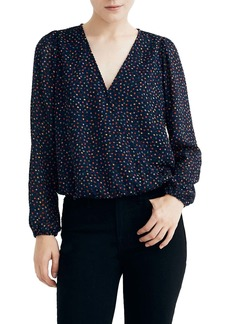 Madewell Lyric Sugar Dot Wrap Top