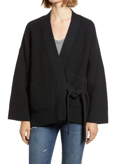 Madewell Madison Rib Side Tie Cardigan (Nordstrom Exclusive)