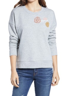 Madewell Mainstay Ikebana Fiore Embroidered Sweatshirt