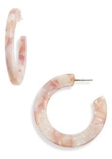 Madewell Marbled Resin Hoop Earrings