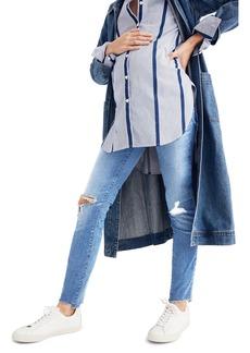 Madewell Maternity Knee Rip Skinny Jeans (Ontario Wash)
