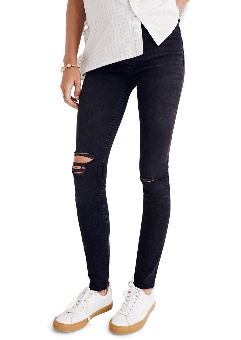 Madewell Maternity Skinny Jeans (Black Sea)