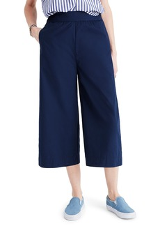 Madewell Mayfield Cotton Poplin Culottes