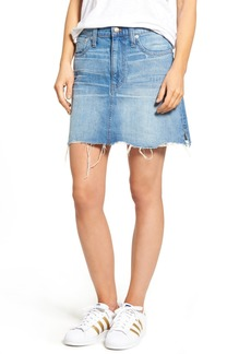 Madewell McCarren Raw Hem Denim Skirt (Petra Wash)