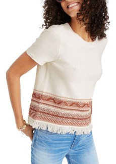 Madewell Medina Fringe Sweater Tee
