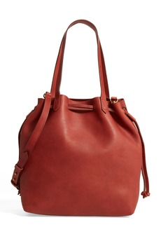 Madewell Medium Transport Leather Bucket Bag