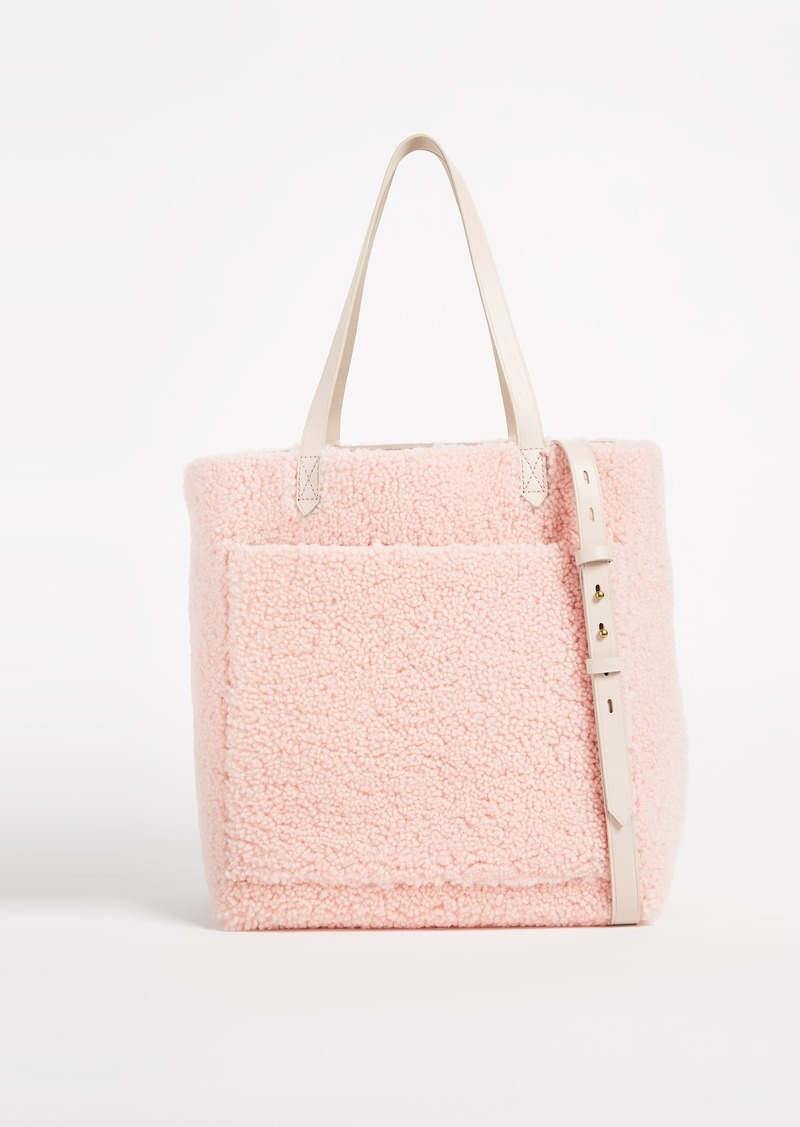 Madewell Medium Transport Tote In Shearling