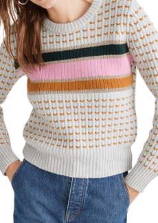 Madewell Metallic Stripe Sweater