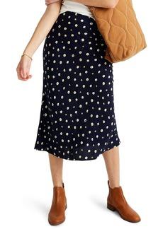 Madewell Midi Slip Skirt in Daisy Dots