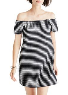 Madewell Mimi Stripe Off the Shoulder Minidress