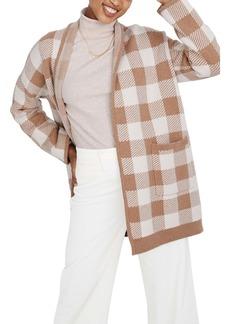 Madewell Minetta Buffalo Check Sweater Coat