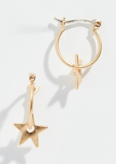 Madewell Mini Charm Star Hoop Earrings