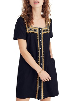 Madewell Mirror-Embroidered Dress