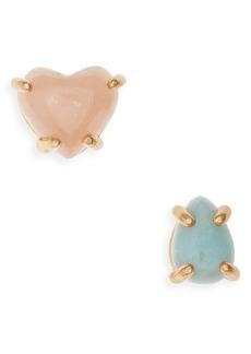 Madewell Mismatched Heart Rock Stud Earrings