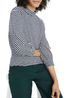 Madewell Mock Neck Structured Stripe Top