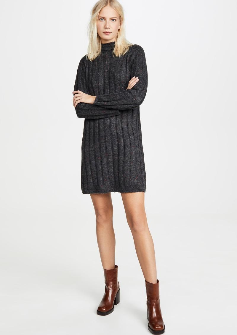 Madewell Mock Neck Mini Sweater Dress