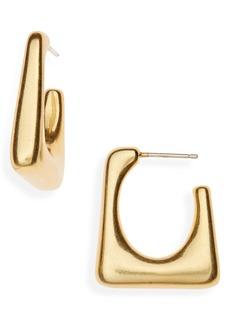 Madewell Modern Geometry Hoop Earrings