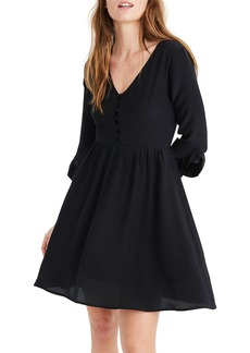 Madewell Moonblossom Ruffle Sleeve Silk Dress
