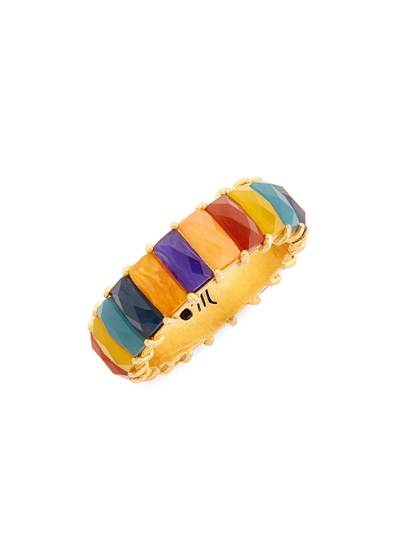 Madewell Multicolor Stone Baguette Ring