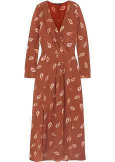 Madewell Night Flower Printed Silk Crepe De Chine Maxi Dress