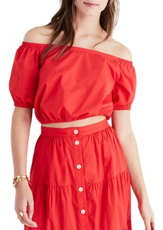 Madewell Off the Shoulder Peasant Top