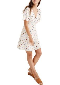 Madewell Orchard Confetti Floral Flutter Sleeve Dress