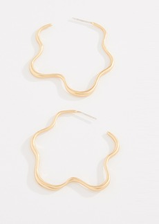 Madewell Organic Star Hoop Earrings