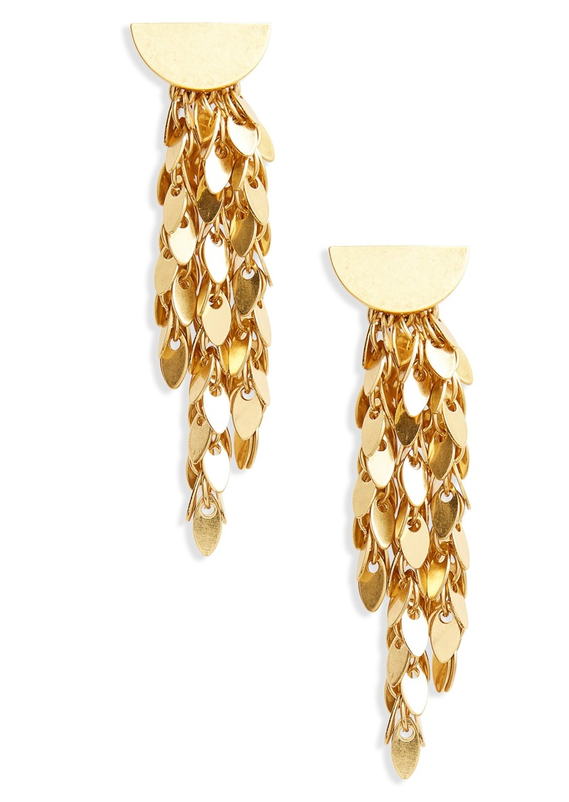 Madewell Oval Disc Fringe Drop Earrings