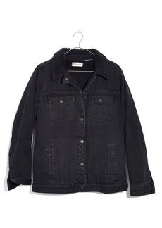 Madewell Oversize Denim Jacket with Fleece Collar