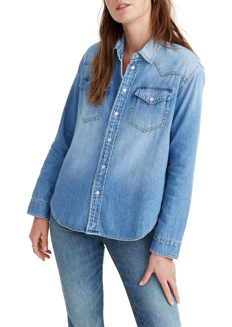 Madewell Oversize Denim Western Shirt