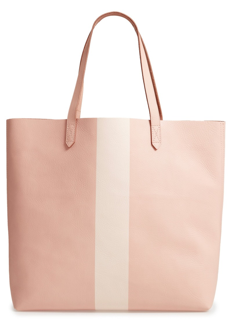 8744bedb7c1e Madewell Madewell Paint Stripe Transport Leather Tote Now $93.98