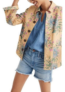 Madewell Painted Blooms Workwear Jacket