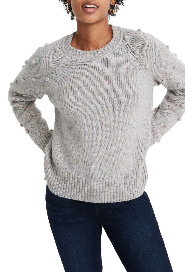 Madewell Palmroy Bobble Sleeve Pullover Sweater