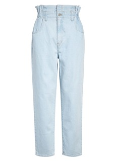 Madewell Paperbag High Waist Classic Straight Jeans (Broomfield Wash)